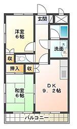 日之出丸太荘[2階]の間取り