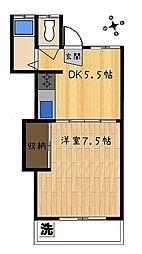 松井荘[2階]の間取り