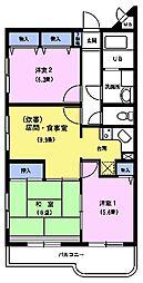 都民住宅エミネンス高野台[3階]の間取り