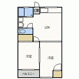 KAマンション[303号室]の間取り