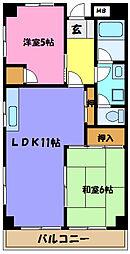 埼玉県さいたま市見沼区堀崎町の賃貸マンションの間取り