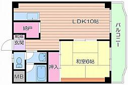 マルビシマンション末広町[7階]の間取り