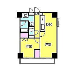 ソルジェンテ日吉[4階]の間取り