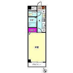 フレア十五屋B館[2階]の間取り