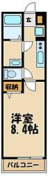 JR横浜線 淵野辺駅 徒歩11分の賃貸マンション 2階1Kの間取り