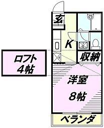 ベノーネ新所沢[1階]の間取り
