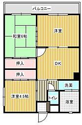第2山下ビル[407号室]の間取り
