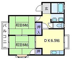 ハイツエスポワールA[2階]の間取り