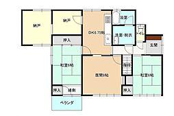 [一戸建] 福岡県古賀市駅東5丁目 の賃貸【/】の間取り