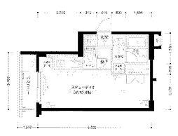 東京都新宿区大京町の賃貸マンションの間取り