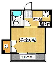 千成マンション[302号室]の間取り