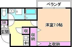 ハーモニーライフ須山[1階]の間取り