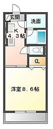 メゾン・ド・ジョバーニ[2階]の間取り