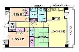 ザ・ライオンズ池田C棟[3階]の間取り