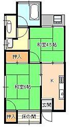 大島アパート[203号室]の間取り