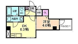 Serie都島[6階]の間取り