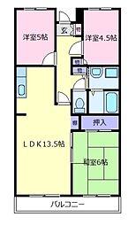 ライゼックス新堂[2階]の間取り