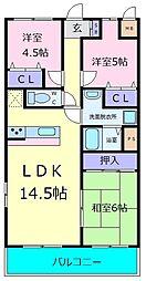 レジデンス赤阪[2階]の間取り