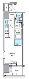 JR山手線 上野駅 徒歩13分の賃貸マンション 5階1Kの間取り
