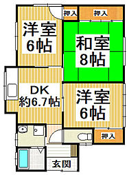 [一戸建] 福岡県小郡市大板井 の賃貸【/】の間取り