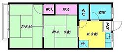 豊荘[103号室]の間取り