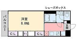 メゾンド・メーヒラ 2階1Kの間取り