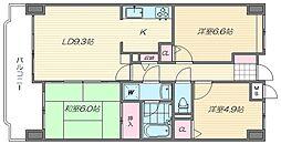 香椎東映マンション[6階]の間取り