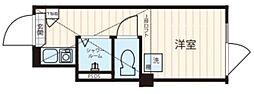 ノースヒル新宿イースト 2階ワンルームの間取り