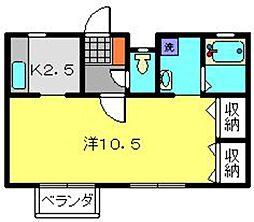 サザンヒルS[2階]の間取り