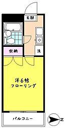 エトワール高尾[203号室]の間取り