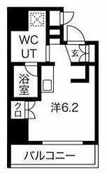 エルフォルテ五反田 2階ワンルームの間取り