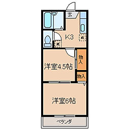 神奈川県横浜市保土ケ谷区峰岡町2丁目の賃貸マンションの間取り