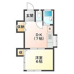 宮前荘[2階]の間取り