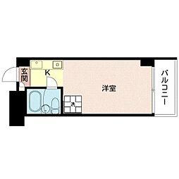 都営浅草線 人形町駅 徒歩3分の賃貸マンション 10階1Kの間取り
