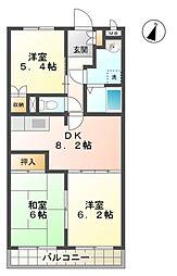 愛知県豊田市美山町1の賃貸マンションの間取り