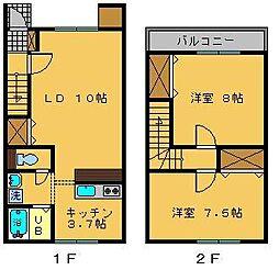 [テラスハウス] 新潟県阿賀野市中央町2丁目 の賃貸【新潟県 / 阿賀野市】の間取り