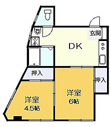 第1廣田マンション[4階]の間取り