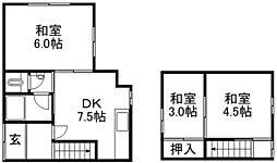 [テラスハウス] 滋賀県栗東市下鈎 の賃貸【/】の間取り