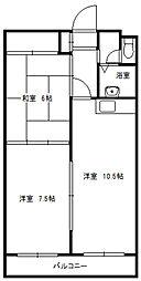 北海道札幌市白石区東札幌五条6丁目の賃貸マンションの間取り