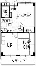 長野県松本市大字笹賀の賃貸マンションの間取り