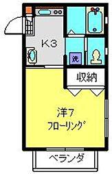 ドルチェ和田町[202号室]の間取り