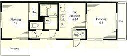 レノアール東横II[1階]の間取り