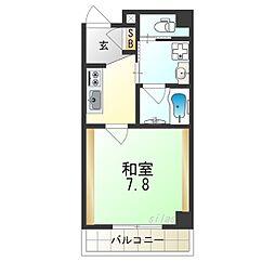 TOYOTOMI STAY PREMIUMNAGAHASHI 9階1Kの間取り
