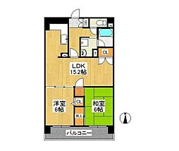 東京都練馬区石神井台8丁目の賃貸マンションの間取り