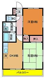 渡辺マンション[606号室]の間取り