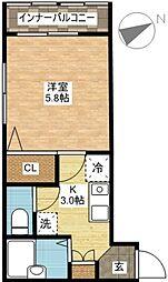長崎県長崎市浪の平町の賃貸マンションの間取り