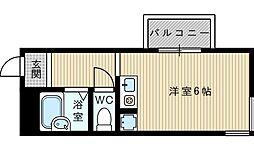 大阪府吹田市清和園町の賃貸マンションの間取り