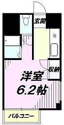 東京都八王子市散田町1丁目の賃貸マンションの間取り