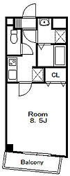 第15モリマンション[4階]の間取り