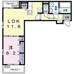 名古屋市営東山線 藤が丘駅 徒歩28分の賃貸アパート 3階1LDKの間取り